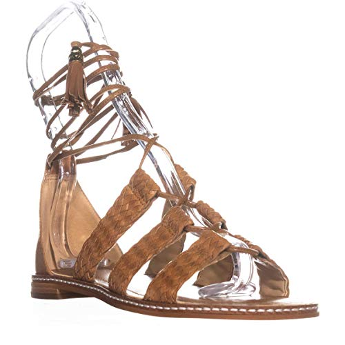 MICHAEL Michael Kors Monterey Gladiator Flat Sandals, Acorn , 5.5 US / 35.5 EU