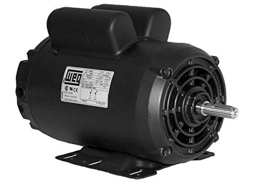 WEG 00636OS1XCD182/4Y ODP Compressor Duty Definite Purpose Motor, 6.4 HP, 1-Phase, 3600 RPM, 240 V, 60 Hz, 182/4Y Frame (Duty Bushing)