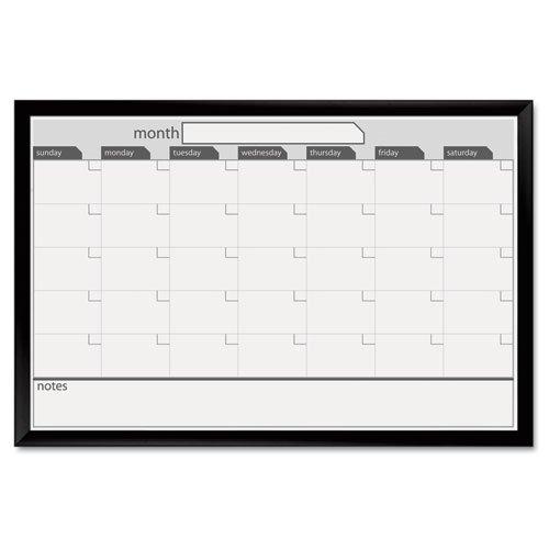 Board Dudes 24-Inch x 36-Inch Black Aluminum Framed Magnetic Dry Erase (Aluminum Framed Dry Erase Boards)