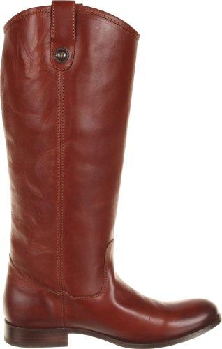 Frye Vrouwen Melissa Knop Boot Cognac Breed Kalf Glad Vintage Leren-77167