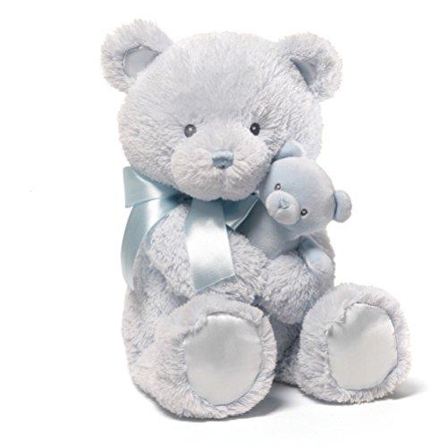 - GUND Momma and Baby Teddy Bear Stuffed Animal Plush Rattle, Blue, 15