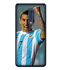 ColorKing Football Dimaria Argentina 03 Multicolor shell case cover for Nokia 5
