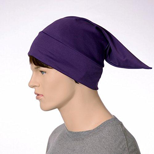 Royal Purple Nightcap Traditional Point Night Sleep Cap