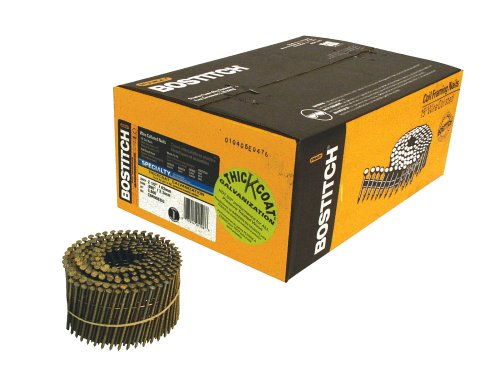 BOSTITCH C8R90BDG Thickcoat 2-1/2-Inch by .090-Inch 15 Degree Ring Shank Coil Siding Nail (3,600 per Box) by BOSTITCH