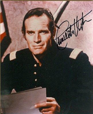 Autograph Warehouse 27509 Charlton Heston Autographed Photo Western 8 x 10