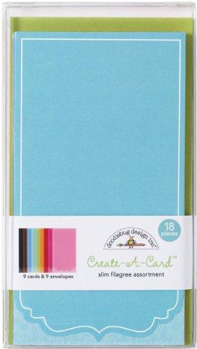 Doodlebug Designs Card Assortment Pack 18 Pieces 9 Cards/9 Envelopes Slim Filagree