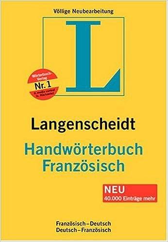 Langenscheidt Handwörterbuch Französisch Französisch