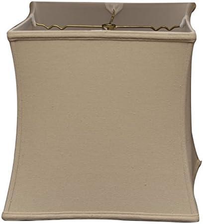 Royal Designs DBS-732-15LNBG Square Cube Bell Basic Lamp Shade, 14 x 15 x14 , Linen Beige