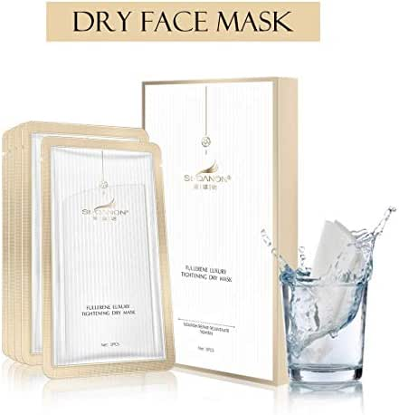 STQANON Sheet Mask Moisturising Face Masks Hyaluronic Acid Hydrating Facial Mask Anti Aging Wrinkles Smoothing Whitening Collagen Natural for Women from Sensitive Dry to Oily Skin(Pack of 5)