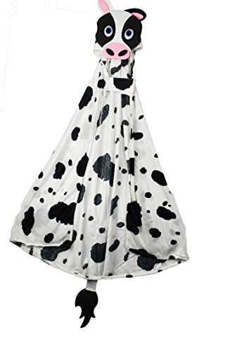 Adorable Cow Animal Costume Cape with Animal Face Hood & Tail! 40
