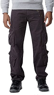 AYG Mens Cargo Pants Trousers Pantalones Militar Casual Algod/ón 29-40