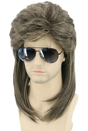 Topcosplay Mens Wig Retro 70s 80s Mullet Wig Halloween Costumes Wig Rock Punk Metal Wig Hair Accessories (Dirty Blonde)]()