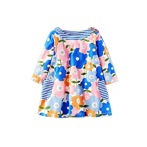 Baby Girls Long Sleeve Dress Robe Princesse Fille Christmas Dress Pattern Kids Dresses,90,5]()