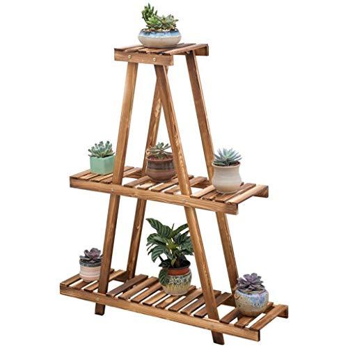 - G-XDPGJJHJ 3 Tier Wooden Pedestal Plant Stand Plant Flower Display Flowerpot Storage Rack for Indoor Outdoor Garden