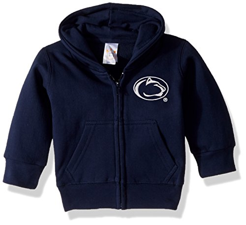 NCAA Penn State Nittany Lions Full Zip Hooded Fleece Jacket, 6 months, Navy (Lions Toddler Fleece)
