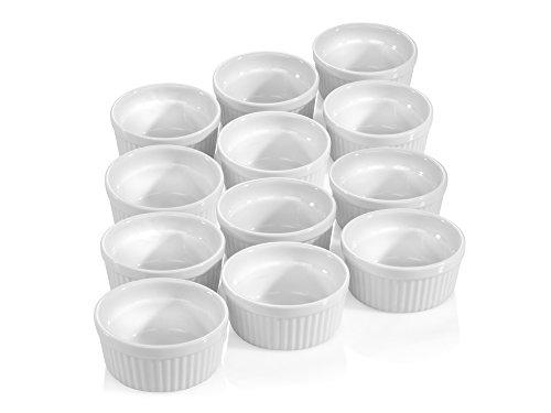 Pasteten Formen Set 12 Stk. 9 cm Porzellan Muffin Cupcake Back Förmchen 140 ml