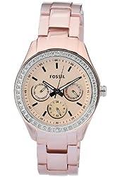 Fossil Women's ES2975 Quartz Rose Dial Aluminum Watch