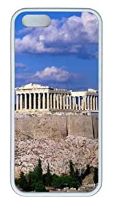 Blue Sky Acropolis Border Buildings TPU Silicone Rubber iPhone 5 and iPhone 5S Case Cover - White