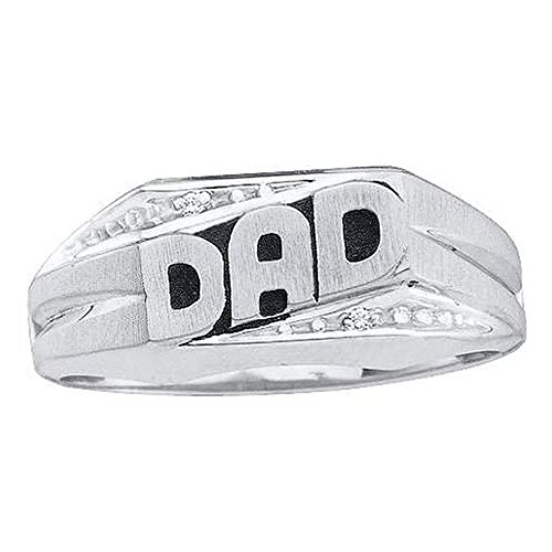10k Gold Dad Diamond Ring - 2