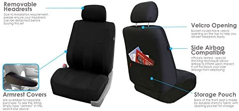 Full Set with Gift Black FH Group FB036115 Striking Striped Seat Covers Universal Fit