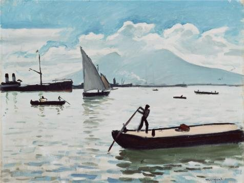 'The Bay Of Naples,1909 By Albert Marquet' Oil Painting, 18x24 Inch / 46x61 Cm ,printed On Perfect Effect Canvas ,this Best Price Art Decorative Prints On Canvas Is Perfectly Suitalbe (Beauty And The Beast Footstool Costume)
