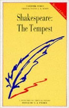 Shakespeare tempest essay topics