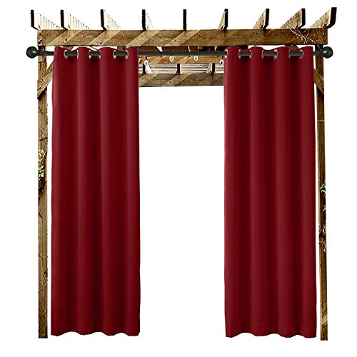 ChadMade Outdoor Curtain Red 84