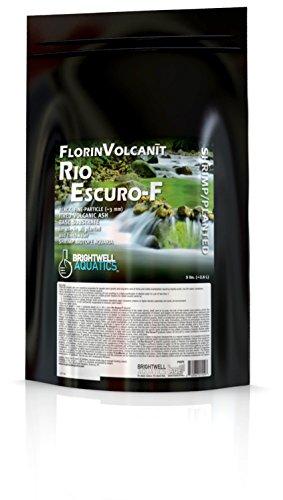 Brightwell Aquatics FlorinVolcanit Rio Escuro-F Black 3mm FW shrimp biotope aquaria, 5 lb (Black Water Brightwell)