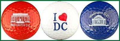 Washington DC Monument I Heart Golf Ball Gift Set