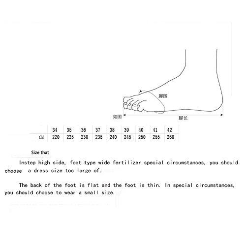 Zapatillas de agitaci y y Cordones Fitness Calzado Plataforma comprimido Transpirables sin de con Zapatillas Mujer Aire para con TIPxq177
