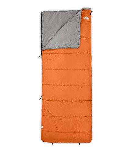 The North Face Wasatch 45 Rectangular Sleeping Bag Autumnal Orange Zinc Grey Regular