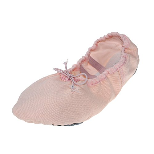 Canvas Kid Ballet Dancing Yoga Performance Flats,Light Beige,Toddler,8M US (Tinker Bell Shoes)