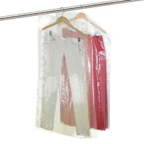 Hangerworld 20 Housses 135cm Transparentes et Imperméables en Polyéthylène pour Pantalons et Jupes en Pressing