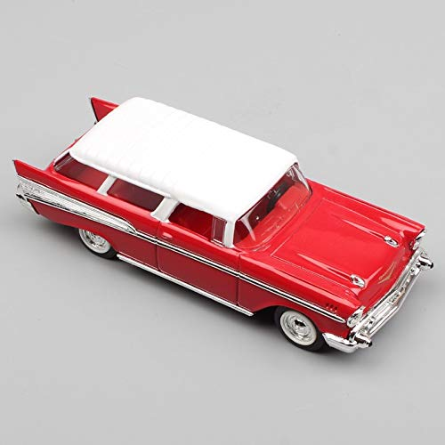 GreenSun 1 43 Scale Small Classic 1957 Chevrolet Nomad Sedan Chevy Wagon Van Metal minicar Die cast car Moto Model for Collector with Box ()