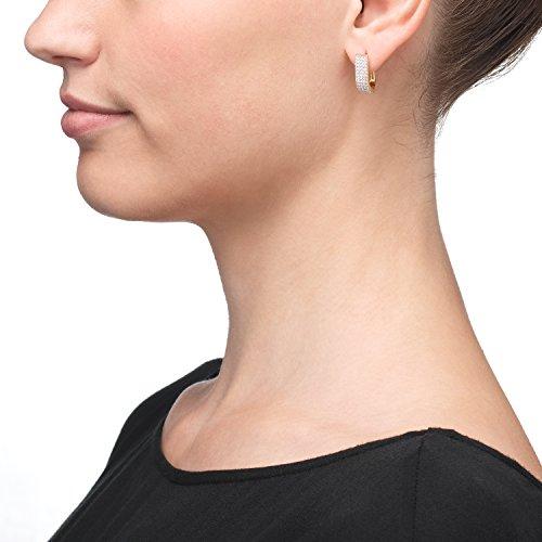 Créoles 333or Boucles d'oreilles Femme-Or jaune 8carats partie Rho diniert Longueur 15.50mm neuf (153008)