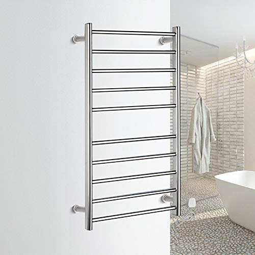 TONGTONG Electric Heated Towel Rail,Straight Electric Heated Towel Rail Radiator Warmer Chrome 950500125mm