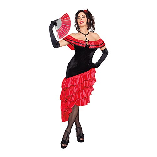 Dreamgirl Women's Spanish Dancer Costume, Black/Red, Small (Adult Spanish Dancer Costume)