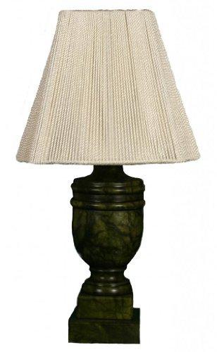 Royal Designs Jade Alabaster Mini Lamp & Square Bell Lampshade