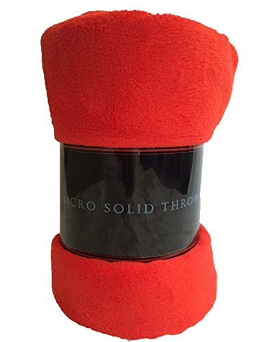 LuxuryDiscounts Warm & Cozy Super Soft Plush Fleece Throw Blanket (Twin, (Twin Red Blanket)