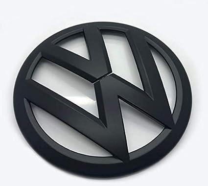 Emblema para capó de parrilla delantera de 120 mm negro mate para ...