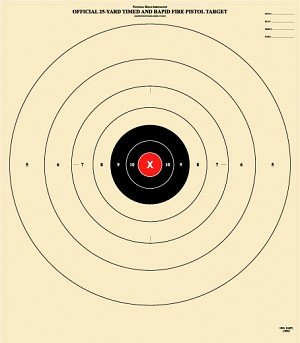 - 25 Yard, Timed and Rapid Fire Target, Official B-8 NRA Target, 21