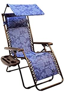 Bliss Hammocks Gravity Free Lounger With Canopy, Pillow, Deluxe Armrest U0026  New Side Tray