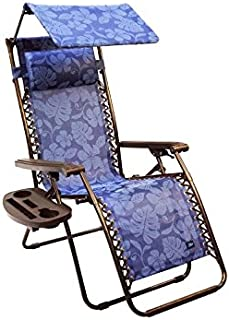 bliss hammocks gravity free lounger with canopy pillow deluxe armrest  u0026 new side tray amazon     bliss hammocks gfc 439tc gravity free recliner with      rh   amazon