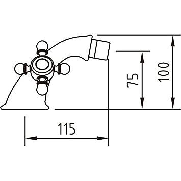 cromo due maniglie 94475 Clever Antigona bagno rubinetto//rubinetto