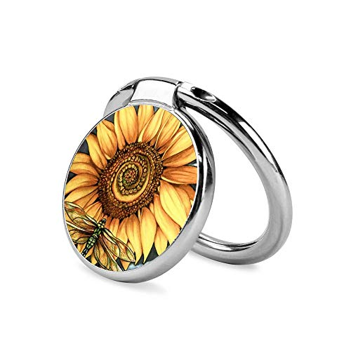 Specially Designed Sunflower and Dragonfly Phone Ring Holder, 360°Rotation Universal Holder Kickstand for Mobile Phone, Tablet or Others. - Dragonfly Designed