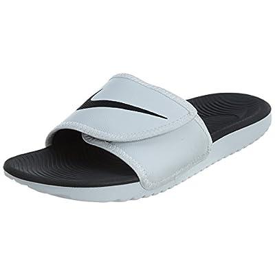 Nike KAWA Men's Adjustable Slide Sandal White/Black   Sport Sandals & Slides