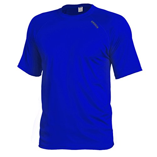 - DRSKIN Men's Cool Quick Dry Sun Protection Short Sleeve Rash Guard Swim Sports Tee Shirt UPF 50+ (BSSBU25, XL)