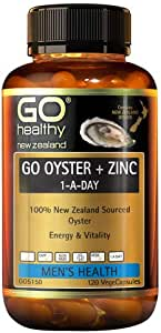 Go Healthy GO Oyster Plus Zinc 1-A-Day Capsules, 120 count