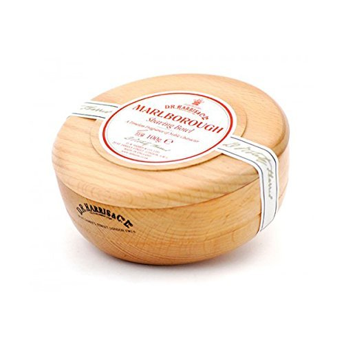 Beechwood Shaving Soap Bowl - D R Harris Marlborough Shaving Soap in Beech Wood Bowl (100g)