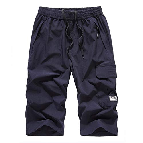 - hositor Mens Cargo Pants, Men's Summer Plus Size Thin Fast-Drying Beach Trousers Casual Sports Short Pants
